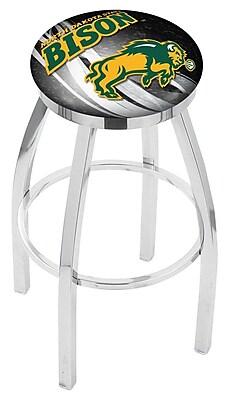 Holland Bar Stool NCAA 25'' Swivel Bar Stool w/ Cushion; North Dakota State Bison - Black WYF078279778130