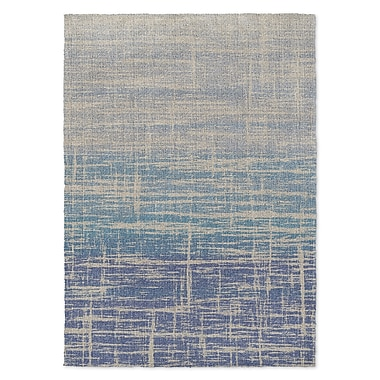 Kavka Salisbury Blue/Beige Area Rug; 3' x 5'