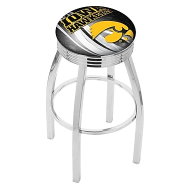 Holland Bar Stool NCAA 25'' Swivel Bar Stool w/ Cushion; Iowa Hawkeyes