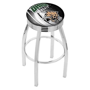 Holland Bar Stool NCAA 30'' Swivel Bar Stool w/ Cushion; Ohio Bobcats