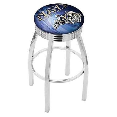 Holland Bar Stool NCAA 30'' Swivel Bar Stool w/ Cushion; US Naval Academy Midshipmen