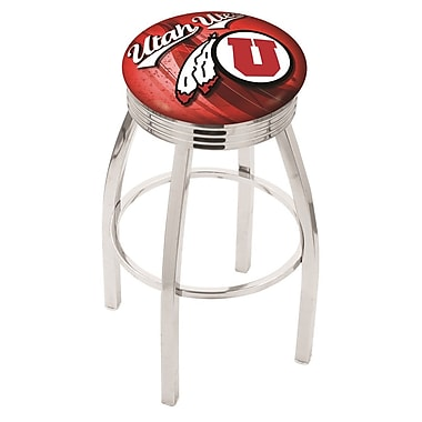 Holland Bar Stool NCAA 25'' Swivel Bar Stool w/ Cushion; Utah Utes