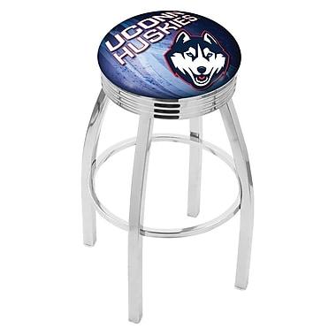 Holland Bar Stool NCAA 25'' Swivel Bar Stool w/ Cushion; Connecticut Huskies