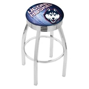 Holland Bar Stool NCAA 25'' Swivel Bar Stool w/ Cushion; Connecticut Huskies