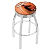 Holland Bar Stool NCAA 30'' Swivel Bar Stool w/ Cushion; Oregon State Beavers
