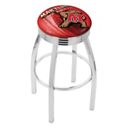 Holland Bar Stool NCAA 25'' Swivel Bar Stool w/ Cushion; Maryland Terrapins