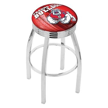 Holland Bar Stool NCAA 30'' Swivel Bar Stool w/ Cushion; Fresno State Bulldogs