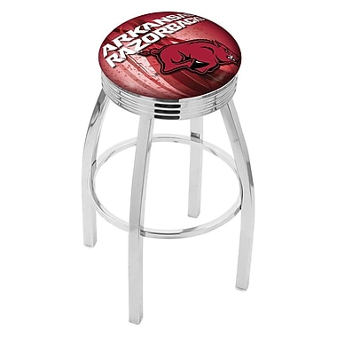 Holland Bar Stool NCAA 25'' Swivel Bar Stool w/ Cushion; Arkansas Razorbacks