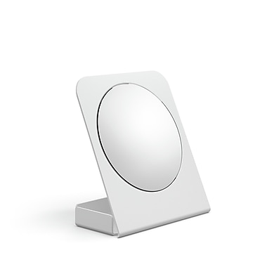 WS Bath Collections Mevedo Magnifying Table Mirror w/ Container; White