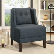 A&J Homes Studio Russell Slipper Chair; Blue