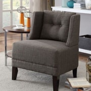 A&J Homes Studio Russell Slipper Chair; Ash Black