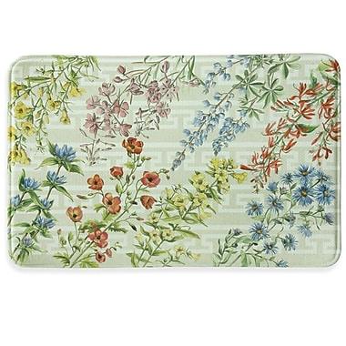 Bacova Guild Summer Flowers Memory Foam Kitchen Mat; 1'11' x 3'