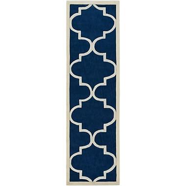 Artistic Weavers Santorini Harmony Hand-Tufted Navy/Ivory Area Rug; 8' x 11'