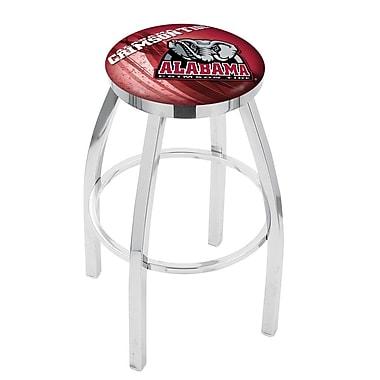 Holland Bar Stool NCAA 25'' Swivel Bar Stool w/ Cushion; Alabama Crimson Tide