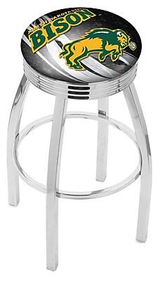 Holland Bar Stool NCAA 25'' Swivel Bar Stool w/ Cushion; North Dakota State Bison - Black WYF078279778026