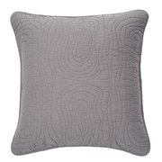 Brunelli Log Cotton Throw Pillow; Gray