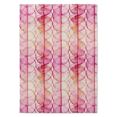 Kavka Pink/Yellow Area Rug; 5' x 7'