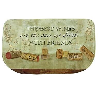Bacova Guild ''Wine w/ Friends'' Memory Foam Kitchen Mat