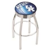 Holland Bar Stool NCAA 25'' Swivel Bar Stool w/ Cushion; Kentucky Wildcats