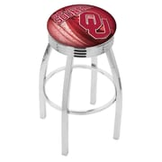 Holland Bar Stool NCAA 30'' Swivel Bar Stool w/ Cushion; Oklahoma Sooners