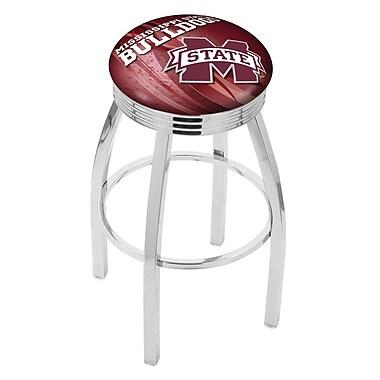 Holland Bar Stool NCAA 30'' Swivel Bar Stool w/ Cushion; Mississippi State Bulldogs