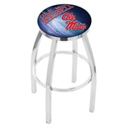 Holland Bar Stool NCAA 25'' Swivel Bar Stool w/ Cushion; Ole Miss Rebels