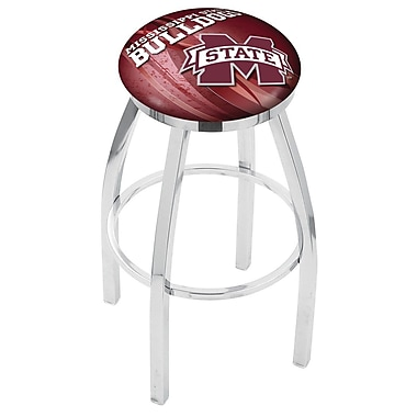 Holland Bar Stool NCAA 30'' Swivel Bar Stool w/ Cushion; Mississippi State Bulldogs