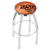 Holland Bar Stool NCAA 25'' Swivel Bar Stool w/ Cushion; Oklahoma State Cowboys