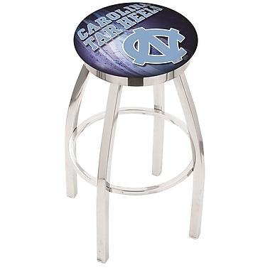 Holland Bar Stool NCAA 30'' Swivel Bar Stool w/ Cushion; North Carolina Tar Heels