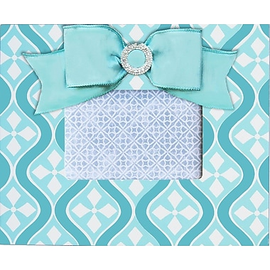 Renditions by Reesa Mod Embellished Picture Frame; Aqua