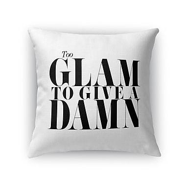 Kavka Too Glam Burlap Indoor/Outdoor Throw Pillow; 18'' H x 18'' W x 5'' D