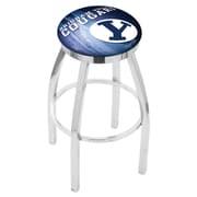 Holland Bar Stool NCAA 30'' Swivel Bar Stool w/ Cushion; BYU Cougars