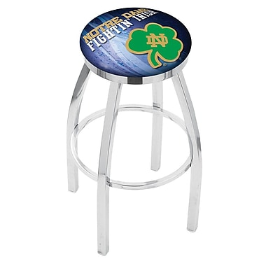Holland Bar Stool NCAA 25'' Swivel Bar Stool w/ Cushion; Notre Dame Fighting Irish (Shamrock)