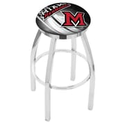 Holland Bar Stool NCAA 25'' Swivel Bar Stool w/ Cushion; Miami (OH) RedHawks