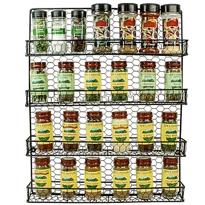Sorbus 4 Tier Wall-Mounted Spice Rack