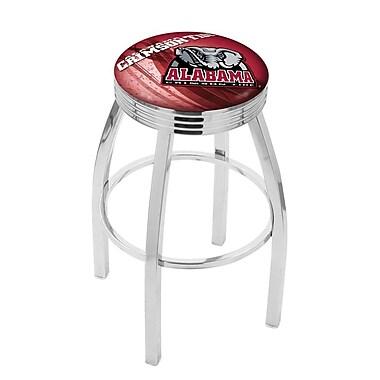 Holland Bar Stool NCAA 30'' Swivel Bar Stool w/ Cushion; Alabama Crimson Tide