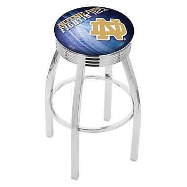 Holland Bar Stool NCAA 30'' Swivel Bar Stool w/ Cushion; Notre Dame Fighting Irish (ND)