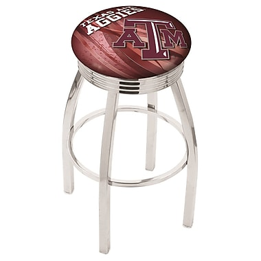 Holland Bar Stool NCAA 30'' Swivel Bar Stool w/ Cushion; Texas A&M Aggies