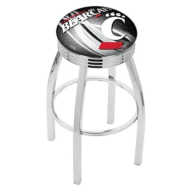 Holland Bar Stool NCAA 30'' Swivel Bar Stool w/ Cushion; Cincinnati Bearcats