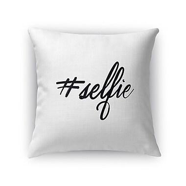 Kavka Selfie Burlap Indoor/Outdoor Throw Pillow; 16'' H x 16'' W x 5'' D