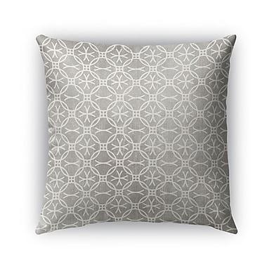 Kavka Bitonto Burlap Indoor/Outdoor Throw Pillow; 18'' H x 18'' W x 5'' D