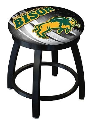 Holland Bar Stool NCAA Swivel Bar Stool; North Dakota State Bison - Black WYF078279775220