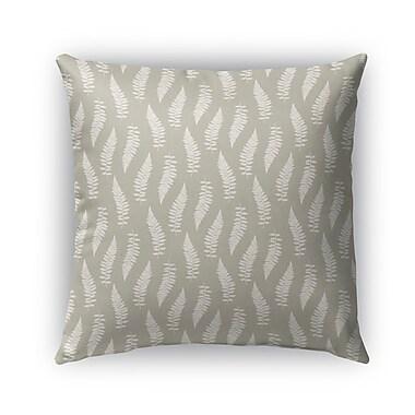 Kavka Feathers Burlap Indoor/Outdoor Throw Pillow; 16'' H x 16'' W x 5'' D