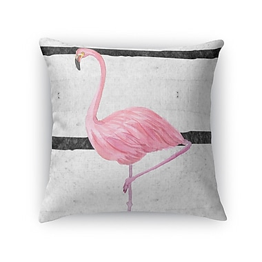 Kavka Flamingo III Throw Pillow; 24'' H x 24'' W x 5'' D