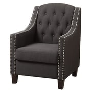 Infini Furnishings Soraya Club Chair; Ash Black