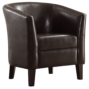 Infini Furnishings Alisa Barrel Chair; Chocolate