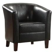 Infini Furnishings Alisa Barrel Chair; Black