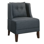 Infini Furnishings Rodolph Wingback Chair; Blue