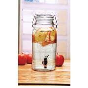 Linen Depot Direct Glass 126 Oz. Beverage Dispenser w/ Locking Lid