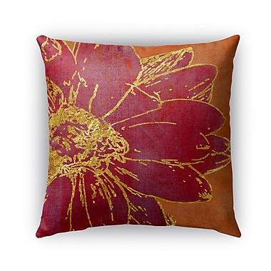 Kavka Flora Burlap Indoor/Outdoor Throw Pillow; 20'' H x 20'' W x 5'' D